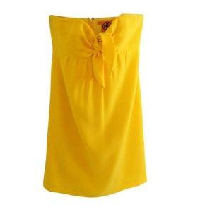 Tory Burch Strapless Yellow Dress